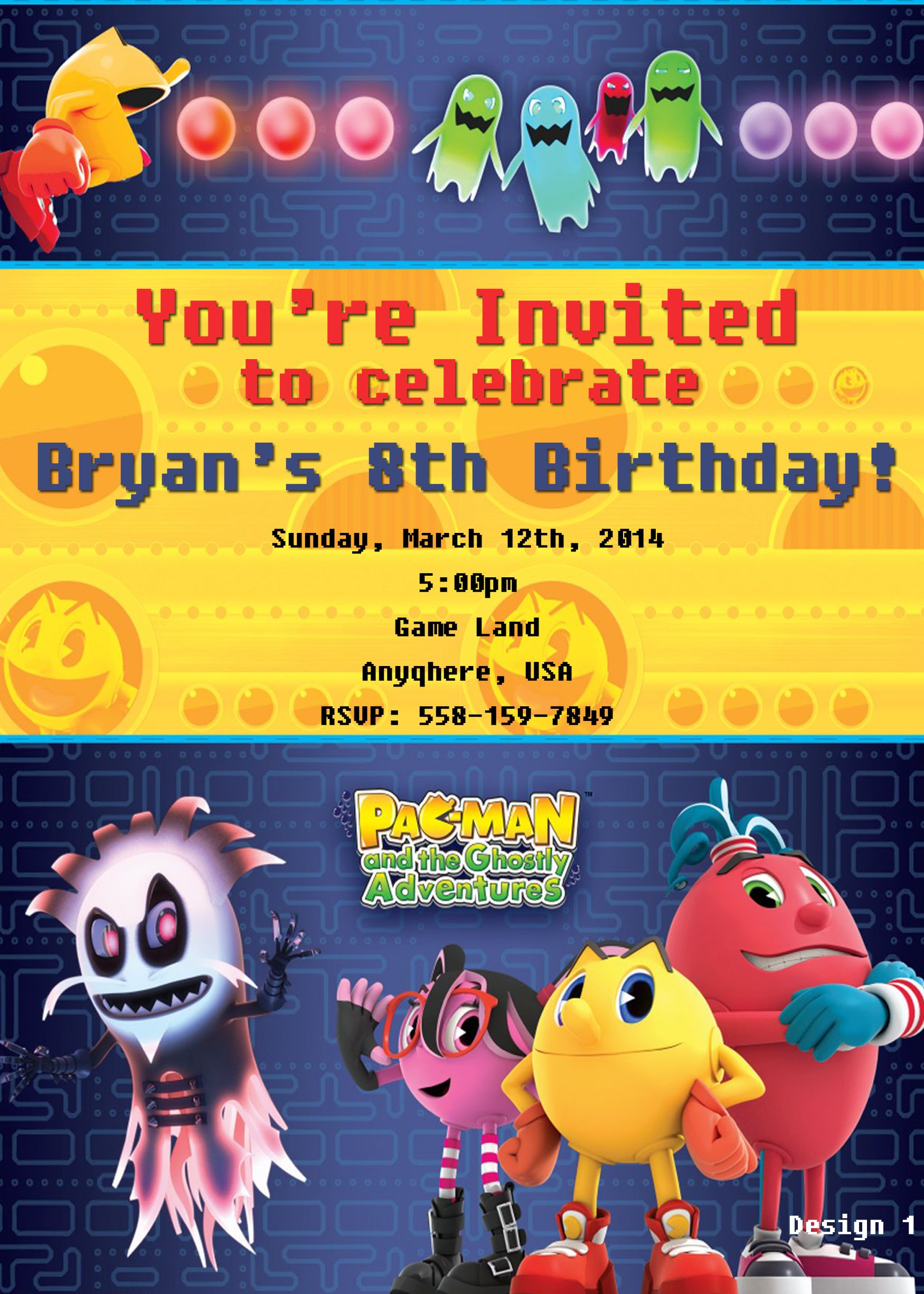 Pin En Nintendo Pac Man And The Ghostly Adventures Birthday Invitations And Party Supplies
