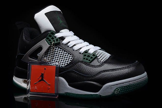 52e57f65d2a7c4 NBA Shoes  Retro 4 (Grey Dark Green White) Nike Air Jordan Brand Sneakers  Release