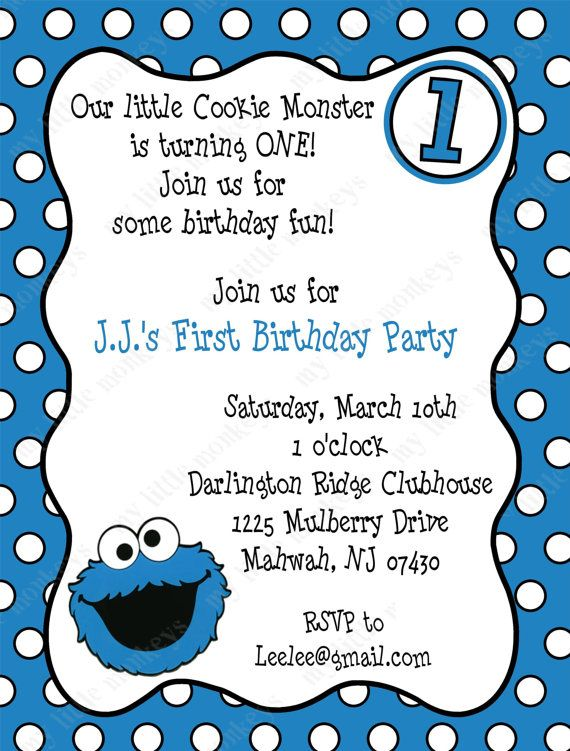 10 cookie monster birthday invitations with envelopes free return 10 cookie monster birthday invitations with by bethcloud723 799 filmwisefo Gallery