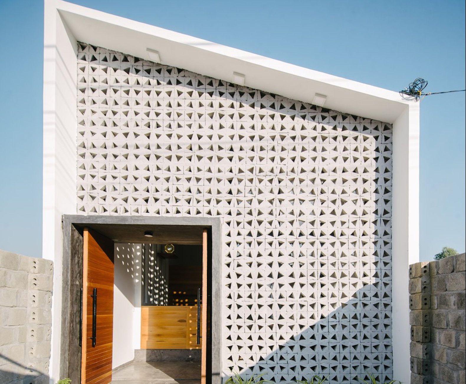 Kontum House By Khuon Studio Concrete Architecture Breeze Block Wall Architecture