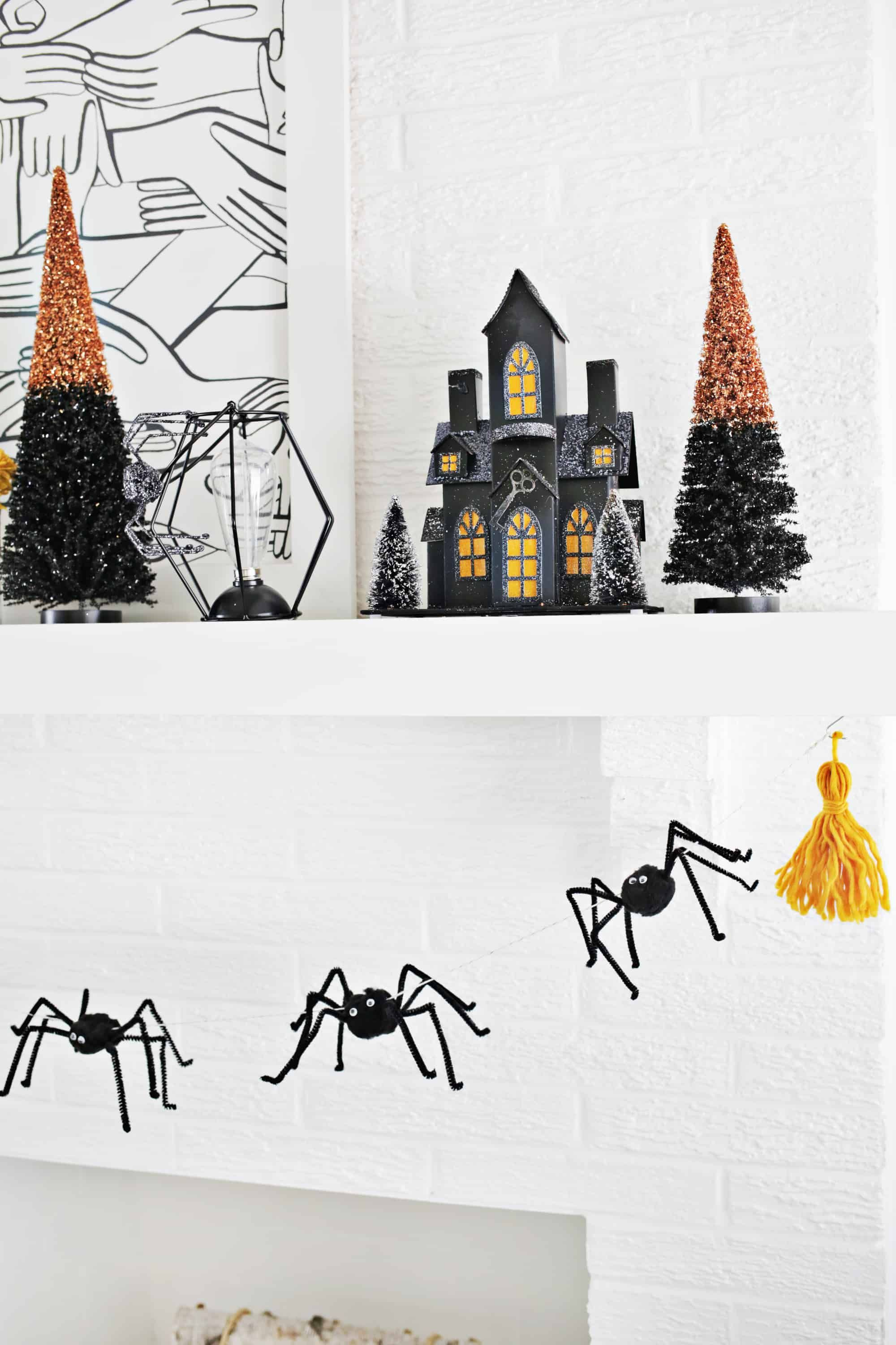 Easy Spider Garland Diy  A Beautiful Mess