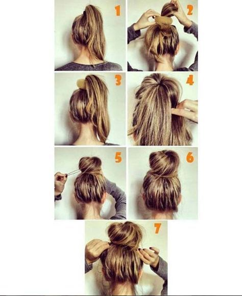 Easy Hairstyles for Work - Easy Bun - Quick and Easy Hairstyles For ...