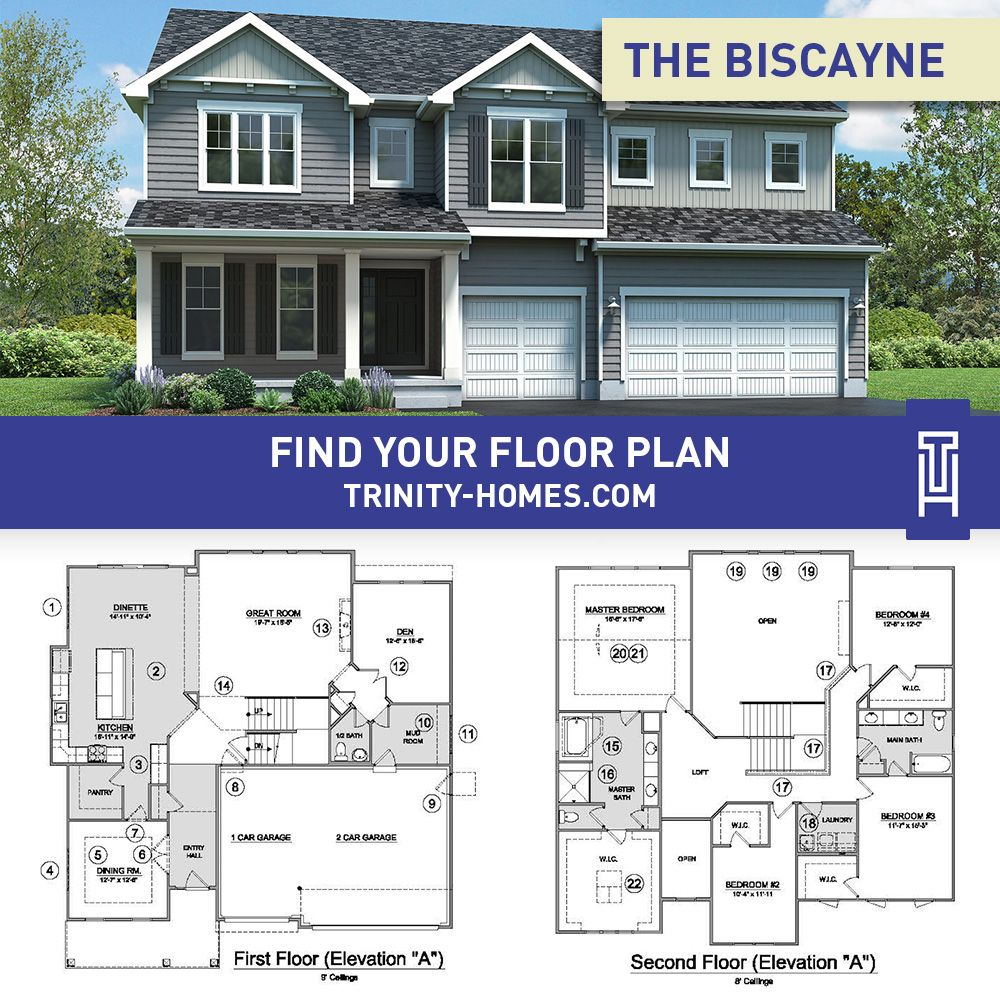 The Biscayne Floor Plan Trinity Homes House Exterior House Plans