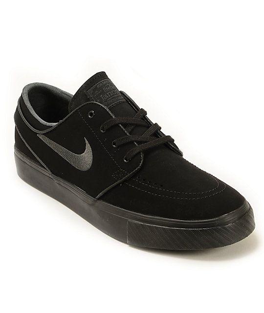 best website e7961 77252 Nike SB Zoom Stefan Janoski Mono Black   Anthracite Skate Shoes   Zumiez