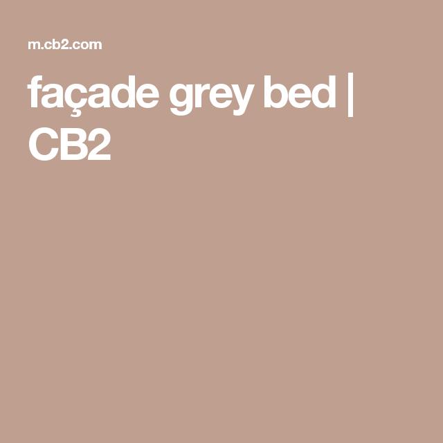 façade grey bed | CB2