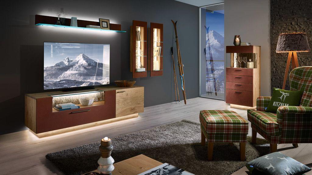 Wohnzimmer holzmöbel ~ Schröder wohnzimmer einrichtung aus kernwildasteiche in edelrost