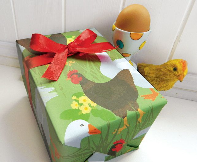 Easter hen gift wrapping paper set spring chicken easter gifts easter hen gift wrapping paper set spring chicken easter gifts negle Image collections