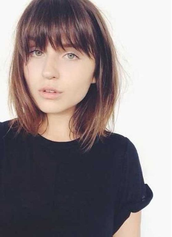 Neck Length Haircuts With Bangs Images Haircuts For Men And Women