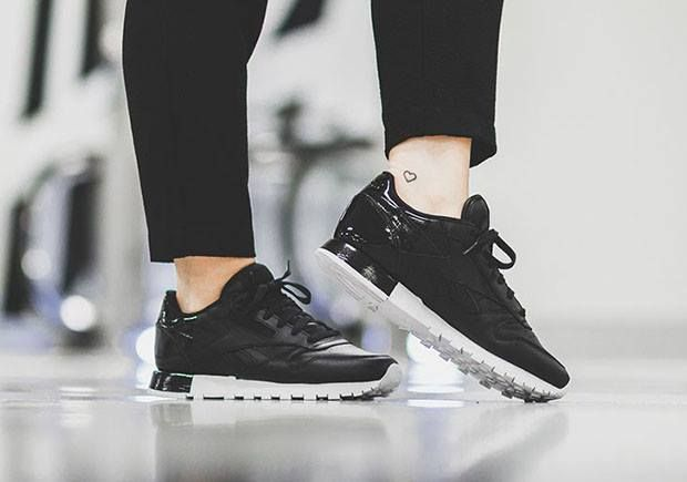 df04d3af67ca Sneakers femme - Reebok Classic leather matte shine pack - black (©a few)