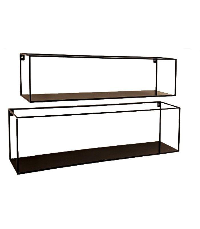 Set De 2 étagères En Métal Noir Design Antoine