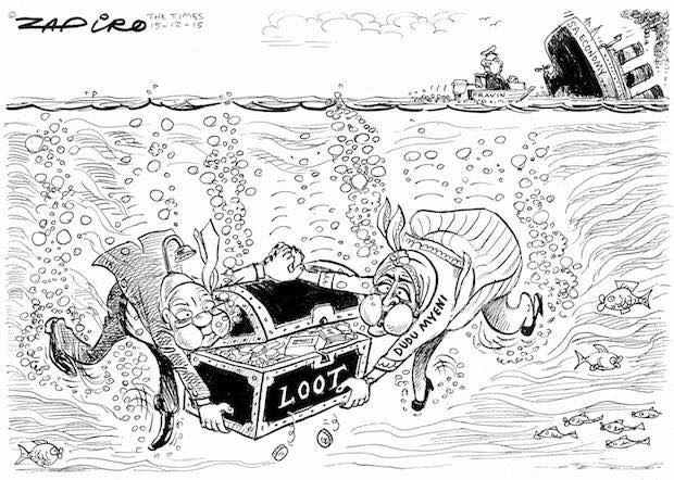 Zapiro's take on this week's drama. Times LIVE