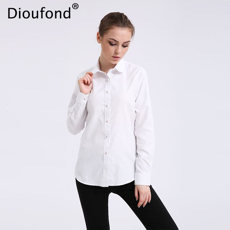 7c2776819f6 Cheap shirt summer, Buy Quality blouse long directly from China women  blouses Suppliers: Dioufond Solid Oxford Mint Women Blouses Long Sleeve  Causal Blouse ...
