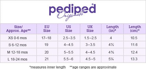 Toddler Youth Shoe Size Chart.Sizing Pediped Footwear Comfortable Shoes For Kids
