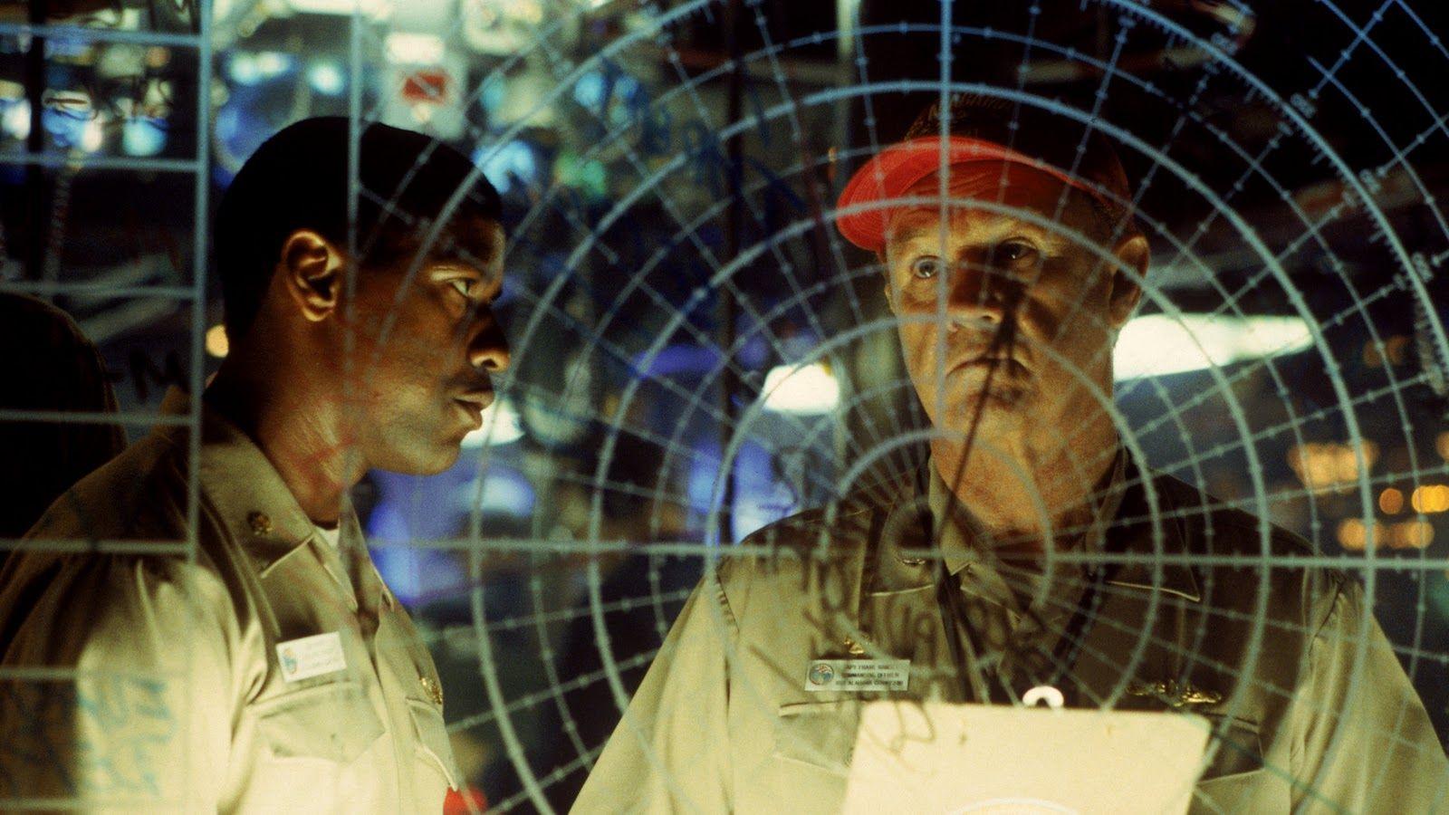 Crimson Tide; Starring: Denzel Washington, Gene Hackman, Viggo Mortensen, James Gandolfini, and Matt Craven.