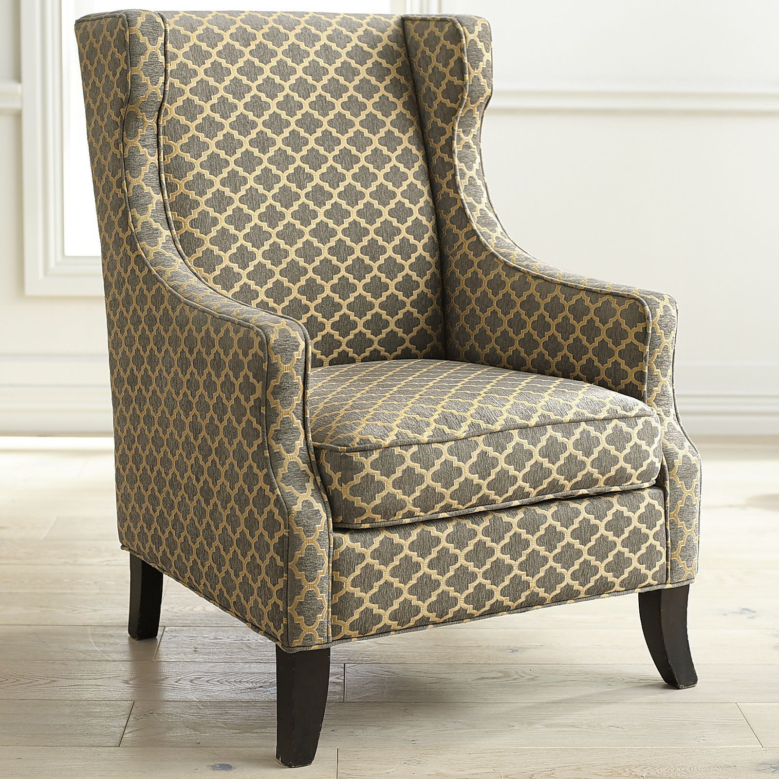 Alec Wing Chair Gray Trellis Chair Wingback Chair Types Of Living Room Chairs