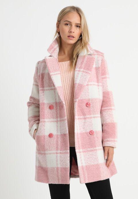 Wollmantelklassischer Mantel pink @