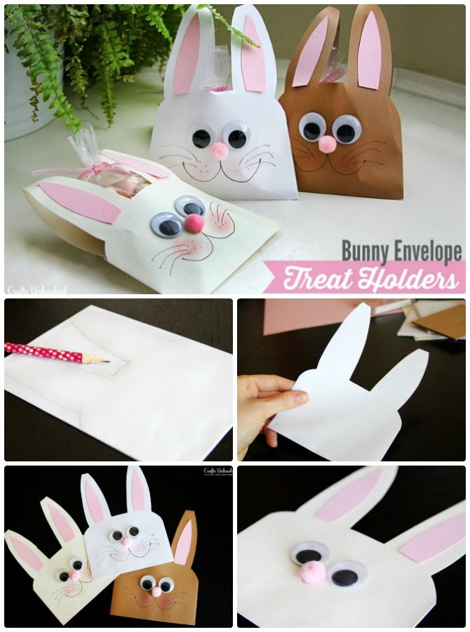 Diy envelope bunny treat easter bunny gift ideas 5 diy easter bunny gift ideas for toddlers with little help from parents to craft easter bunny easter gift favors easy easter crafts for kids and schools negle Image collections