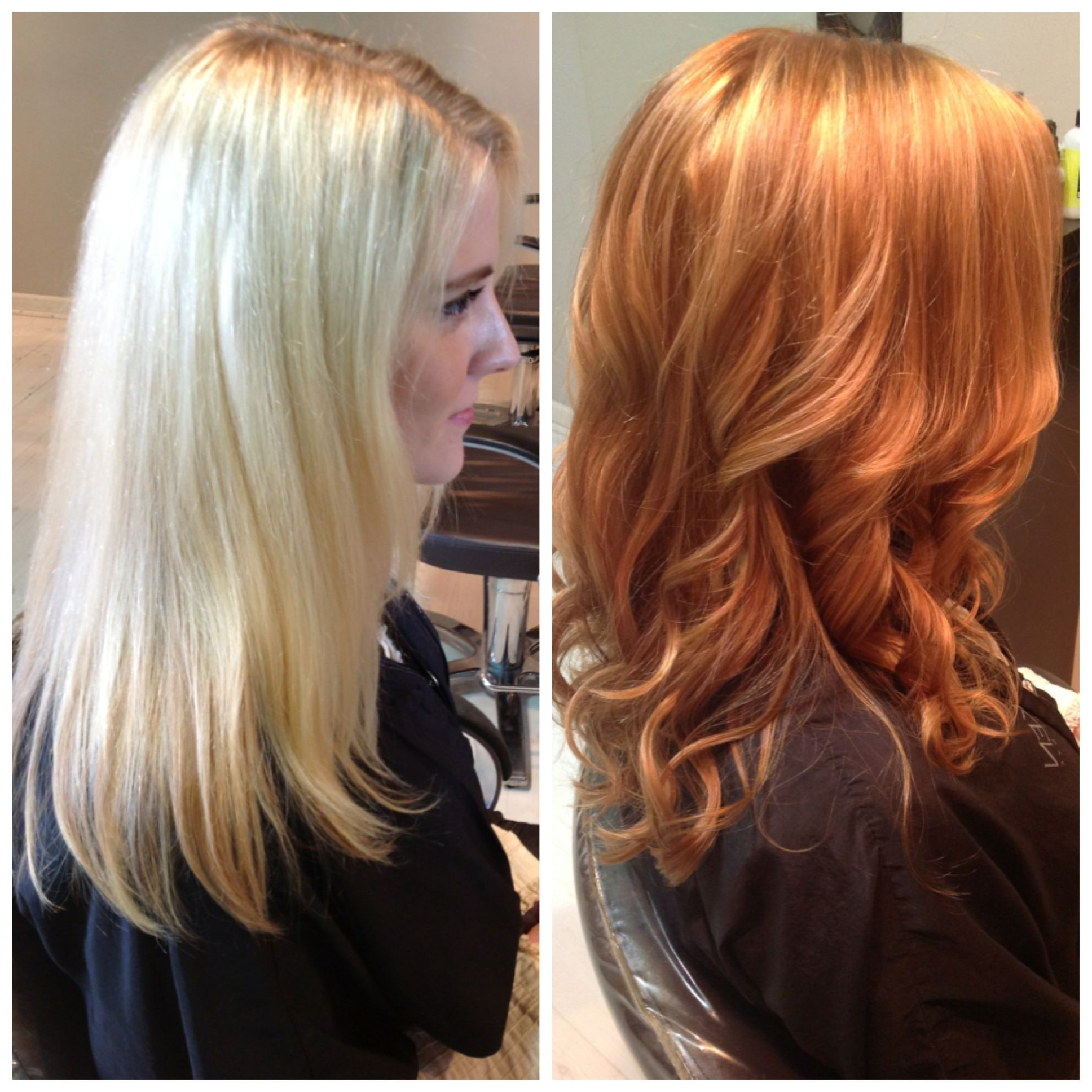 Before Copper With Golden Highlights Red Blonde Hair Strawberry