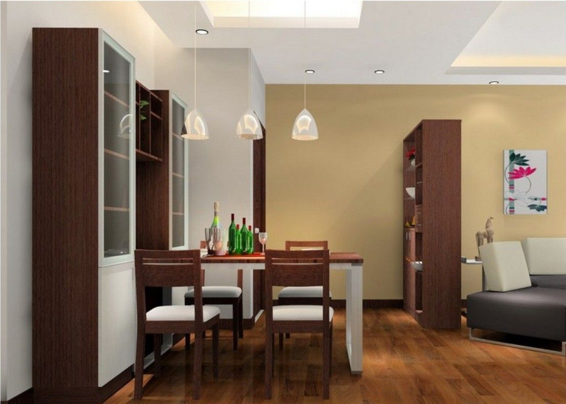 Closet partition between dining room and living room - Living room with dining room designs ...