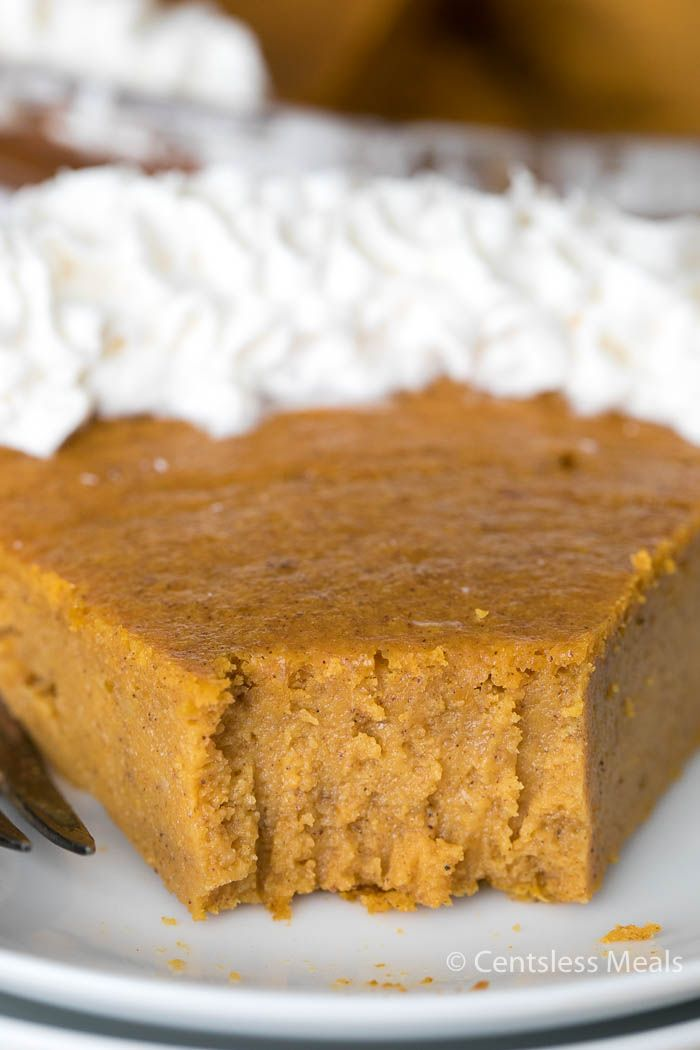 Crustless Pumpkin Pie {A Fall Favorite!} - CentsLe