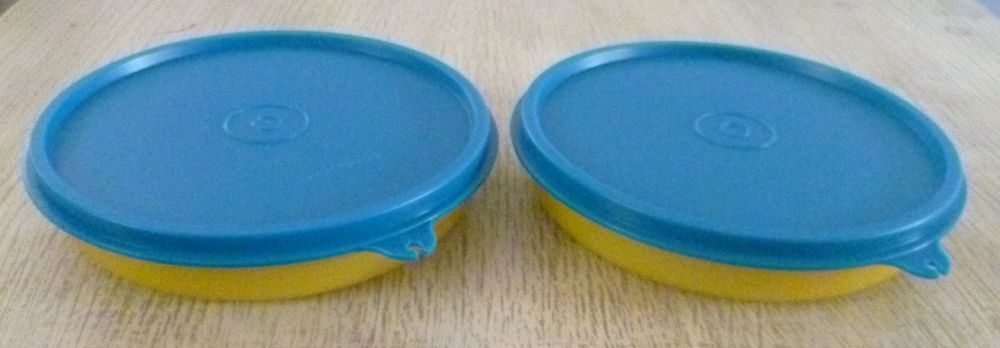 Tupperware Free Shipping New Set 2 Flat Bowls Containers W Lids 1 Cup Each One Tupperware
