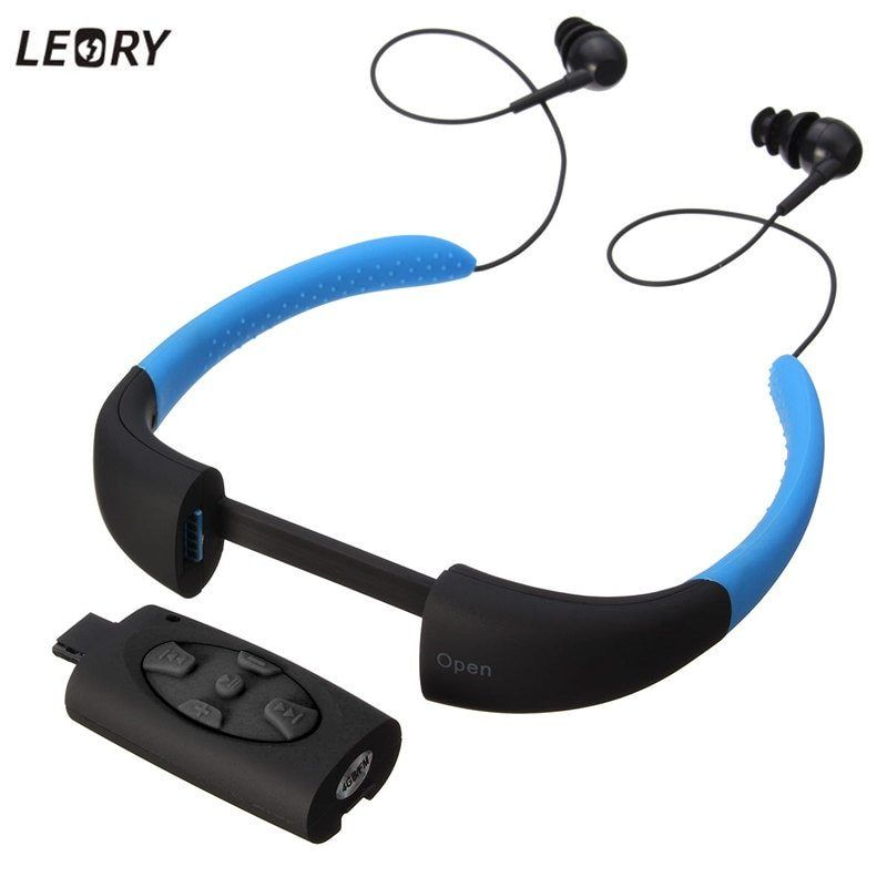 New Built-in Diving Sports Water-proof Swimmer MP3 Player w// FM Radio Earphone