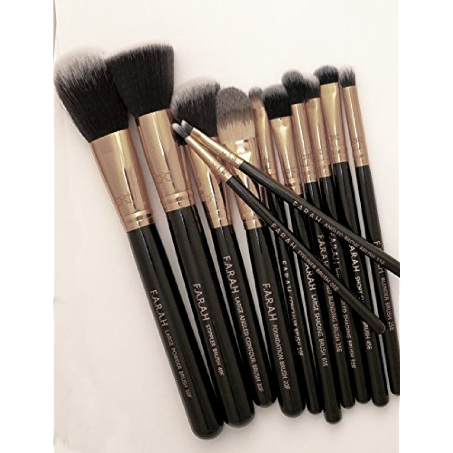 F.A.R.A.H 12 Piece Luxe Makeup Brush Set with Case