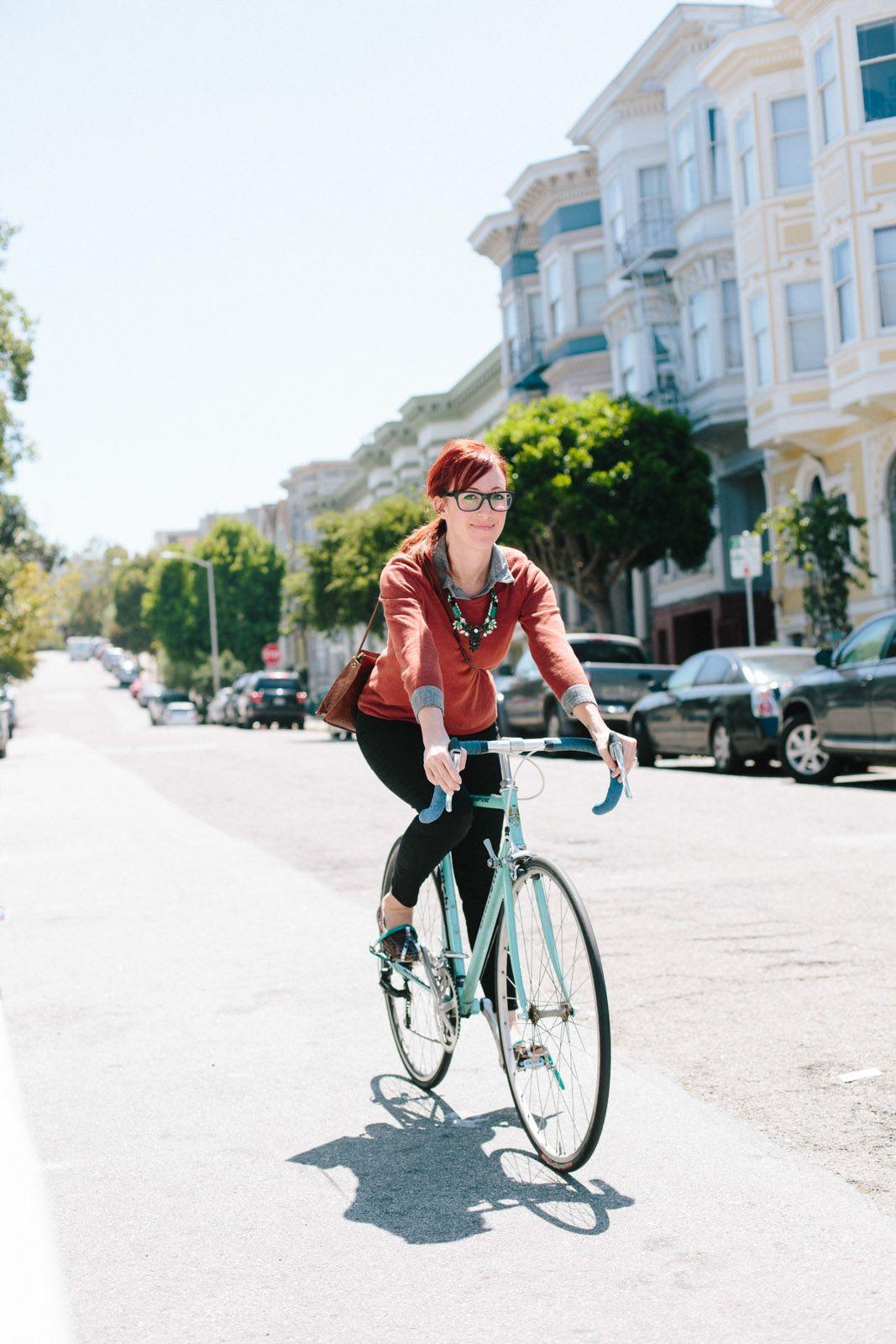 San Francisco Biker Style Biker Style Bike Style Bicycle Girl