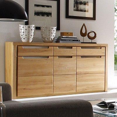 sideboard zino wohnzimmer schrank in kern buche massiv lamellen in mbel wohnen mbel - Ebay Wohnzimmerschrank
