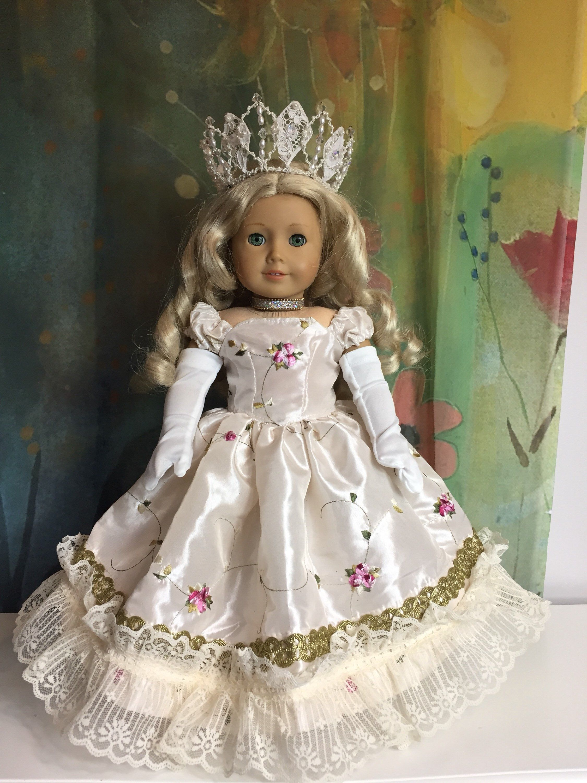 American Girl Custom OOAK Sparkling Gold Evening Gown Set
