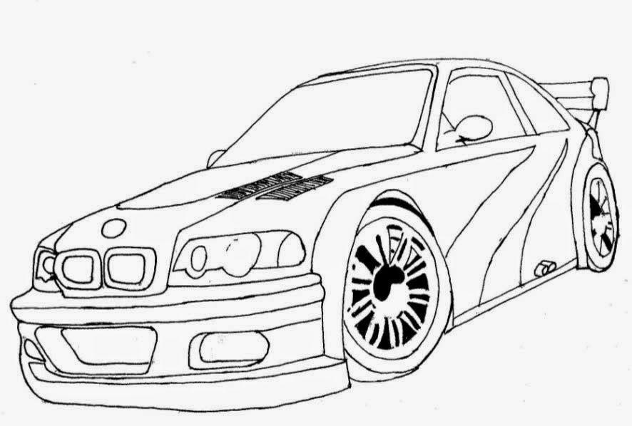 Desenhos Para Colorir E Imprimir De Carros Com Imagens