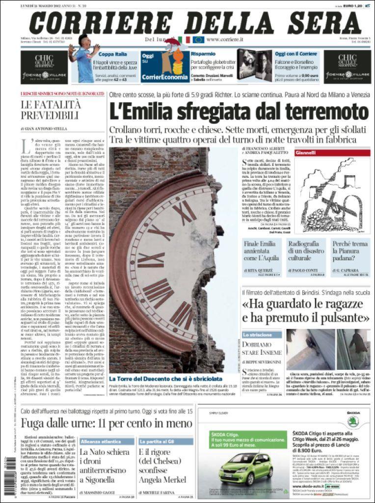 Le Prime Pagine Dei Quotidiani Di Oggi Draft It Giornale Quotidiani Storia