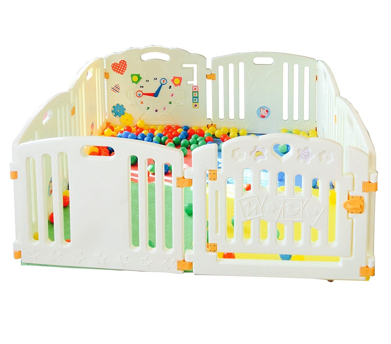 Baby Toddler Coloured Playpen Baby Cage Kids Room Divider Heavy Duty Nursery