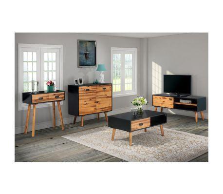 vidaXL Woonkamer meubelset 4-delig massief acaciahout | Furniture ...