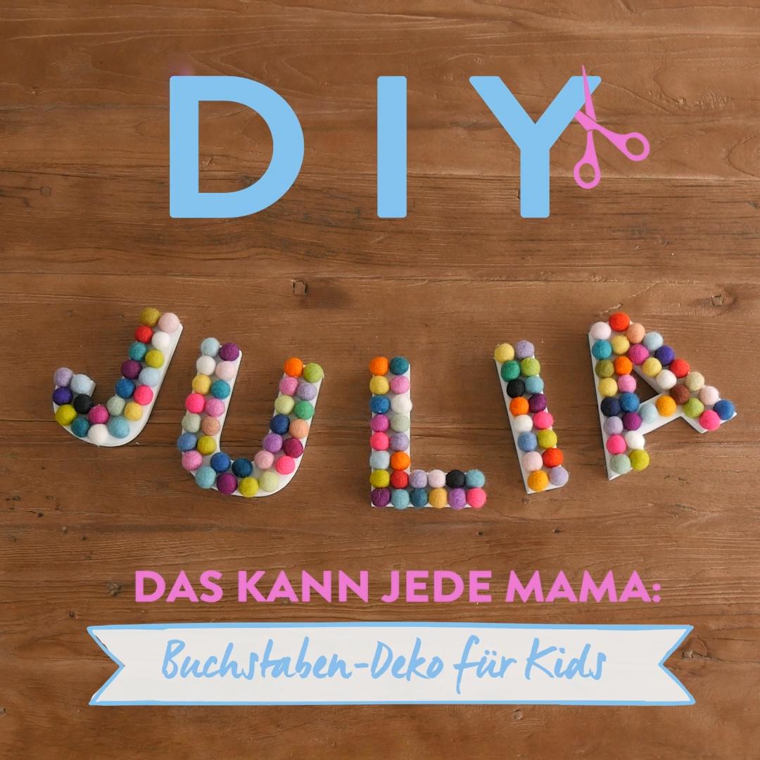 DIY Buchstaben-Deko für Kids #zuhausediy