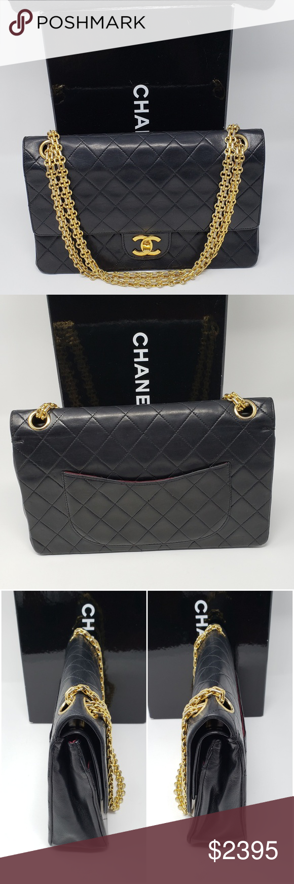 5a21ed2ff786 100% Auth Vintage CHANEL Shoulder Bag Pre-owned. Overall condition is  excellent.