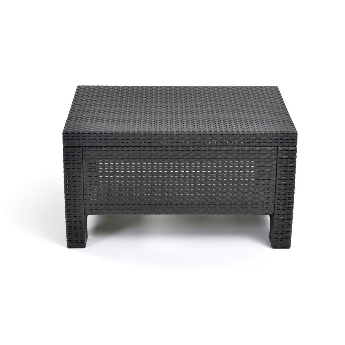 Keter corfu charcoal resin wicker all weather outdoor coffee table keter corfu charcoal resin wicker all weather outdoor coffee table grey brown patio furniture geotapseo Image collections