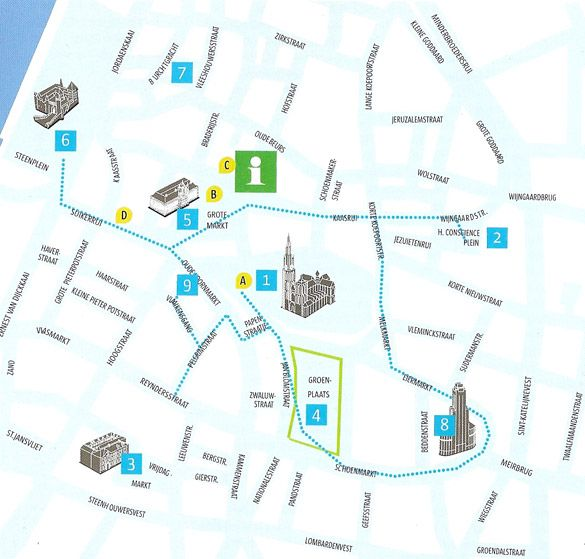 Mapa Amberes Jpg 585 559 Amberes Mapa De Ciudad Gante