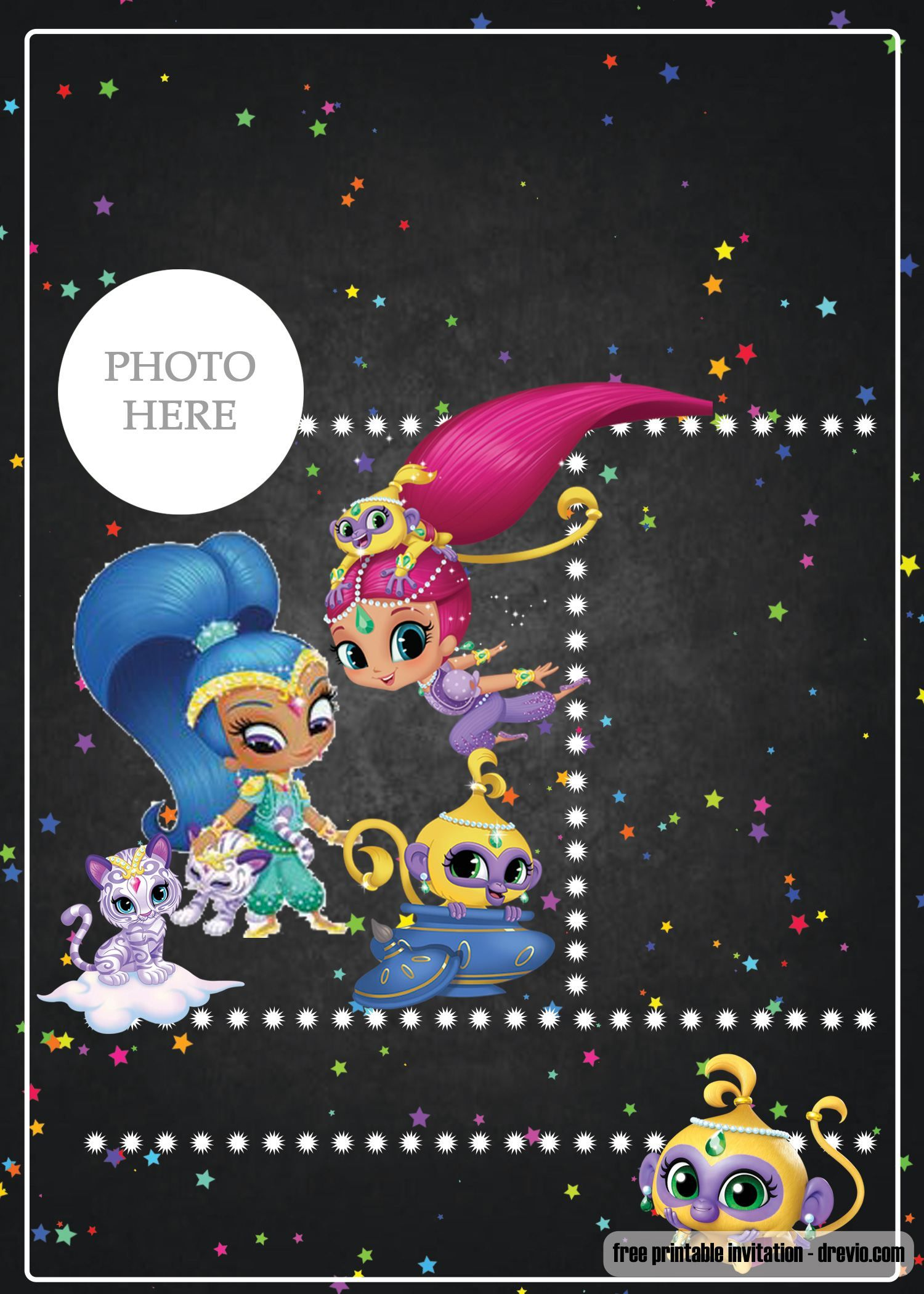 Free Printable Shimmer And Shine Invitation Template Free
