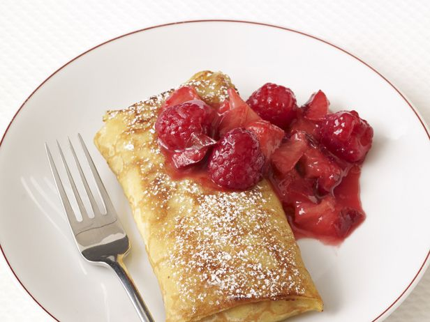 Plum-Raspberry Blintzes from FoodNetwork.com