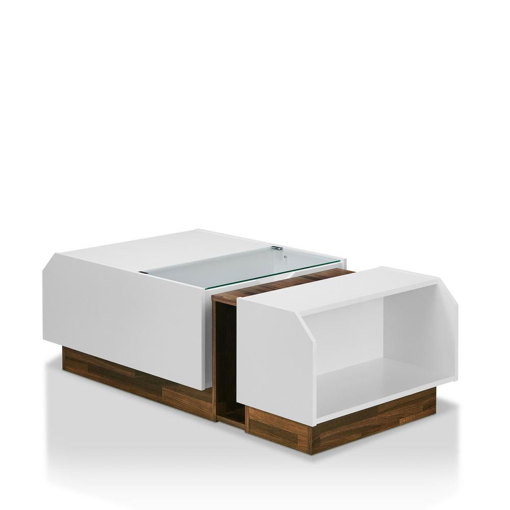 walnut storage coffee table