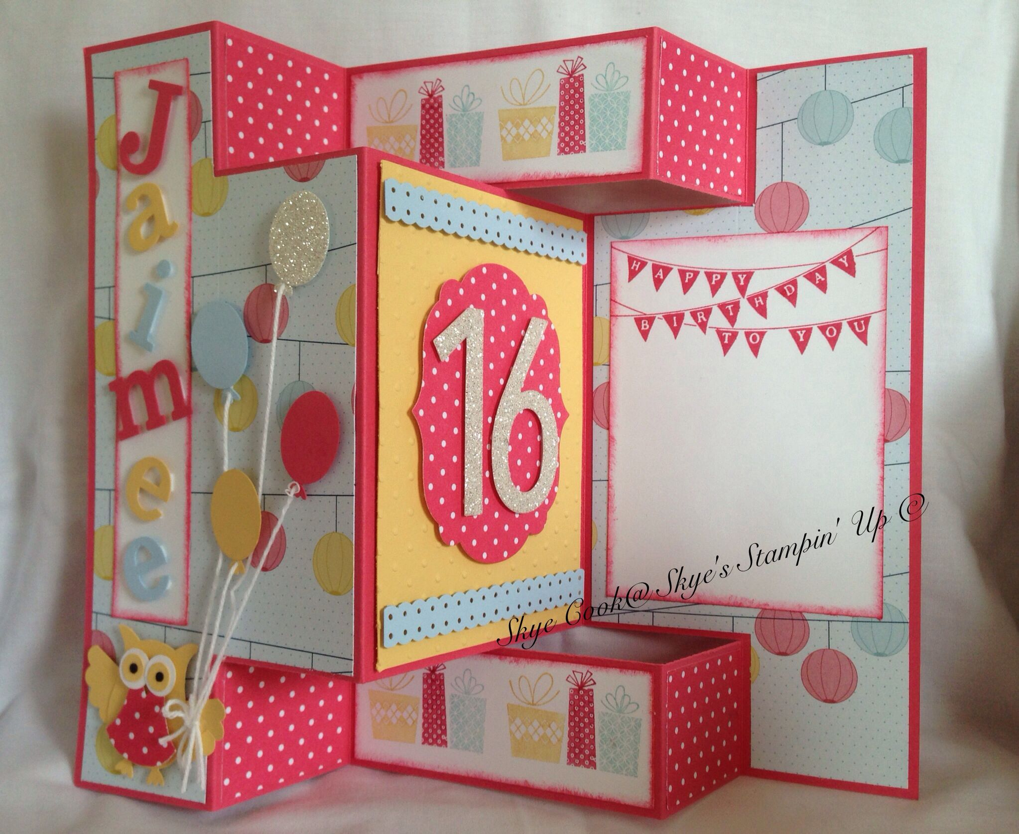 Personalised birthday card for a sweet 16 yr old girl card – Scrapbook Birthday Cards