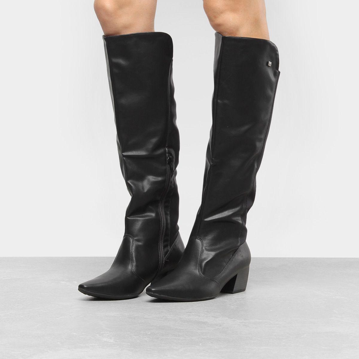4a86bfe20 Compre Bota Over the Knee Piccadilly Salto Baixo Feminina e muito mais em  roupas, calçados