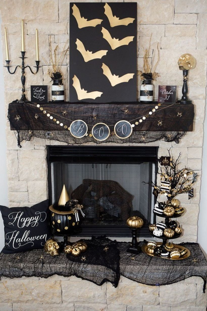 Adorable indoor halloween decoration ideas (61 Halloween - Inside Halloween Decorations