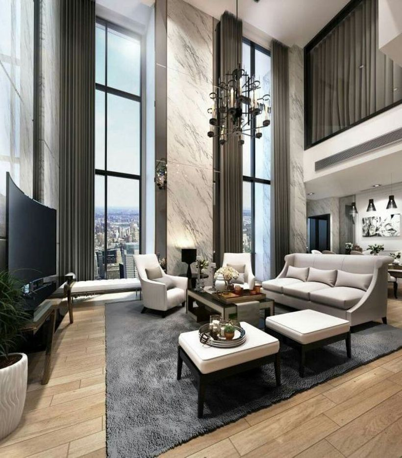 46 Rustic Posh Living Room Design Ideas For Luxurious Home ...