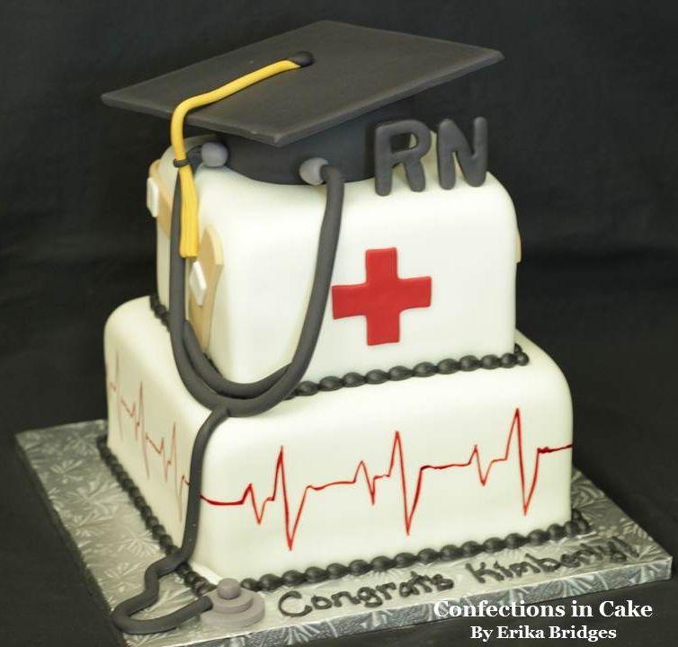 Rn Nurse Graduation Cake With Images Nursing Cake Graduation