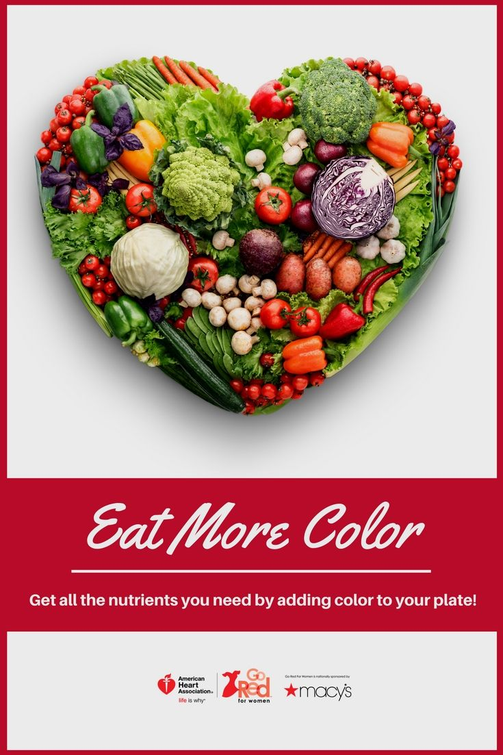 The best way to get all of the vitamins, minerals and nutrients you need is to eat a variety of colorful fruits and veggies. Add color to your plate each day with the five main color groups.