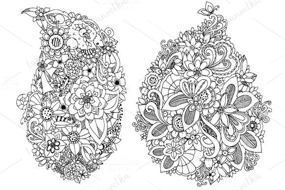 Doodle flowers @creativework247