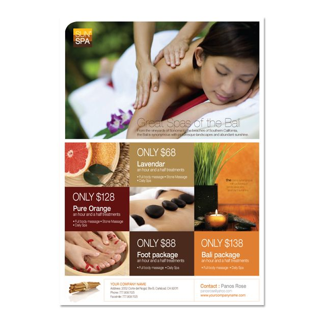 Hair & Nail Spa Salon Tri Fold Brochure Template | Salon