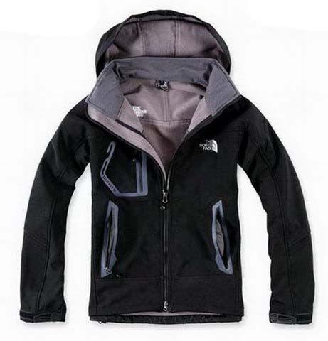 a04c465a37 New Style North Face WindStopper Jacket Clearance Men Black T025 For  Christmas